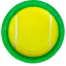 """Tennis Party Plates - 7"""" (8)"""