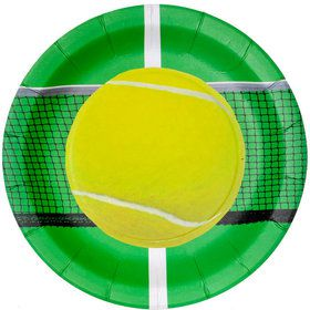 """Tennis Party Plates - 9"""" (8)"""