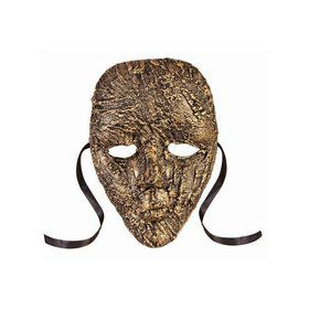 Textured Full Face Mask Gold