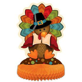 "Thankful Turkey 14"" Honeycomb Centerpiece (Each)"
