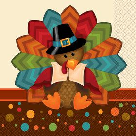 Thankful Turkey Lunch Napkins (16 Count)
