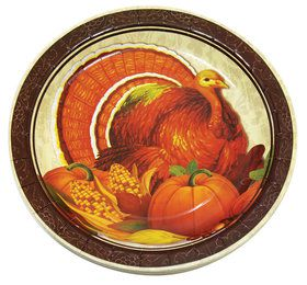 "Thanksgiving 9"" Plates (8)"