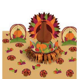Thanksgiving Turkey Table Decorating Kit (Each)