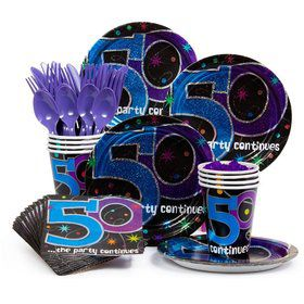 The Birthday Party Continues... 50th Birthday Standard Tableware Kit