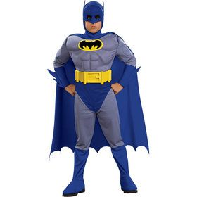 The Brave and the Bold Dlx Boys Muscle Batman Costume