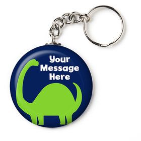 "The Friendly Dinosaur Personalized 2.25"" Key Chain (Each)"