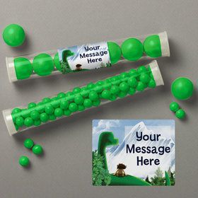 The Friendly Dinosaur Personalized Candy Tubes (12 Count)