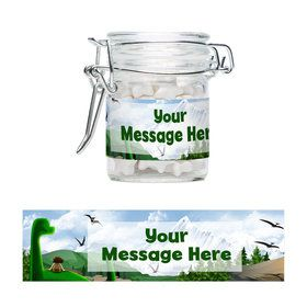 The Friendly Dinosaur Personalized Glass Apothecary Jars (10 Count)