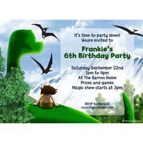 The Friendly Dinosaur Personalized Invitation (Each)