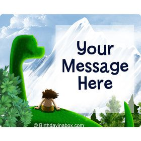 The Friendly Dinosaur Personalized Rectangular Stickers (Sheet of 15)
