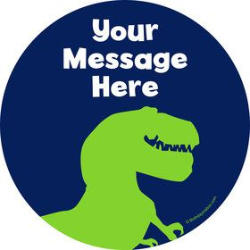 The Friendly Dinosaur Personalized Stickers (Sheet of 12)