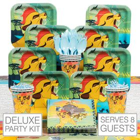 The Lion Guard Deluxe Tableware Kit (Serves 8)