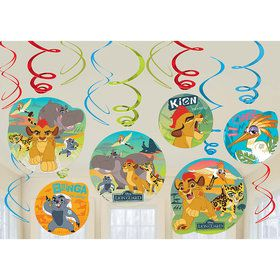 The Lion Guard Hanging Swirl Decorations (12 Count)