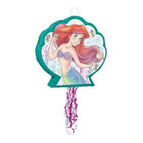 The Little Mermaid Shaped Pull String Pinata