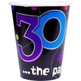 The Party Continues 30th Birthday 9oz Cups (8 Count)