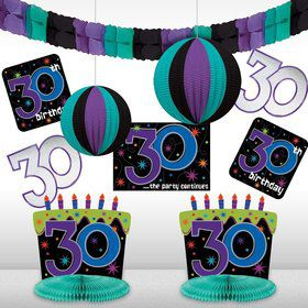 The Party Continues 30th Birthday Decorating Kit