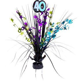 "The Party Continues 40th Birthday 18"" Spray Centerpiece"