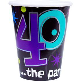 The Party Continues 40th Birthday 9oz Cups (8 Count)