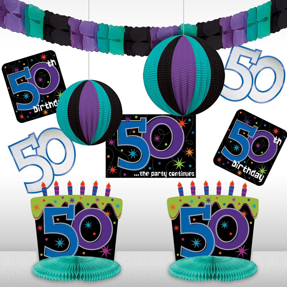 The Birthday Party Supplies Continues 50th Birthday Decorating Kit