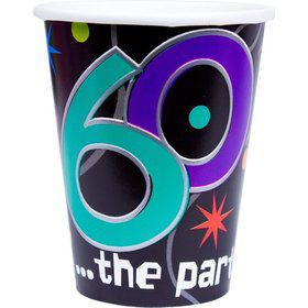 The Party Continues 60th Birthday 9oz Cups (8 Count)