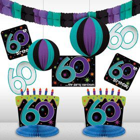 The Party Continues 60Th Birthday Decorating Kit