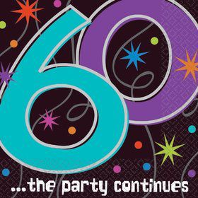 The Party Continues 60th Birthday Napkins