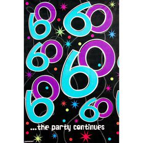 The Party Continues 60Th Birthday Plastic Table Cover