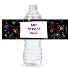 The Party Continues Personalized Bottle Labels (Sheet of 4)