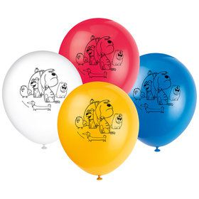 """The Secret Life of Pets 2 Sided 12"""" Balloons (8 Count)"""