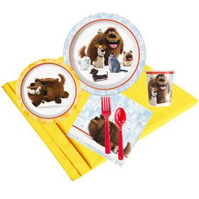 The Secret Life of Pets Deluxe Birthday Party Tableware Kit (Serves 8)