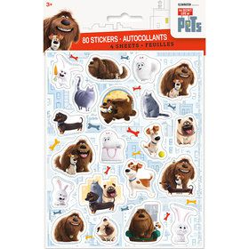 The Secret Life of Pets Sticker Sheet (4 Count)