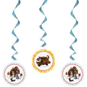 The Secret Life of Pets Swirl Decorations (3 Count)