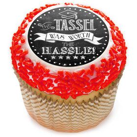 "The Tassel Was Worth The Hassle 2"" Edible Cupcake Topper (12 Images)"
