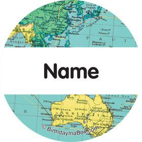The World Awaits Personalized Mini Stickers (Sheet of 24)