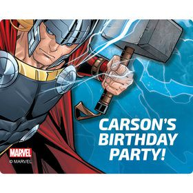 Thor Personalized Rectangular Stickers (Sheet of 15)