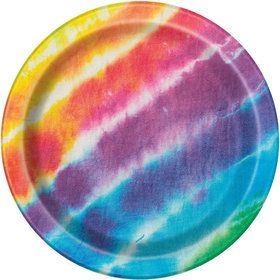 "Tie Dye 7"" Cake Plates (8 Count)"