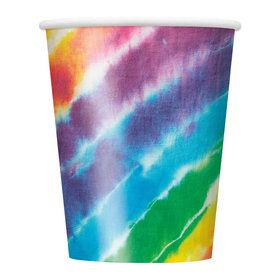 Tie Dye 9 oz Cups (8 Count)