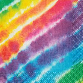 Tie Dye Beverage Napkins (16 Count)