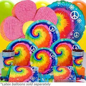 Tie Dye Birthday Party Ultimate Tableware Birthday Kit Serves 8