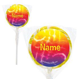 "Tie Dye Fun Personalized 2"" Lollipops (20 Pack)"