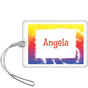 Tie Dye Fun Personalized Bag Tag (each)