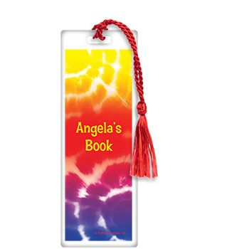 Tie Dye Fun Personalized Bookmark (each) - Party Supplies BB016086
