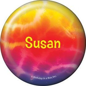 Tie Dye Fun Personalized Button (each)