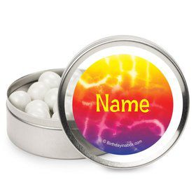 Tie Dye Fun Personalized Candy Tins (12 Pack)