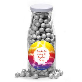 Tie Dye Fun Personalized Glass Milk Bottles (12 Count)