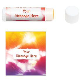 Tie Dye Fun Personalized Lip Balm (12 Pack)