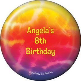 Tie Dye Fun Personalized Magnet (each)