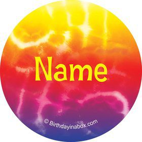 Tie Dye Fun Personalized Mini Stickers (Sheet of 24)