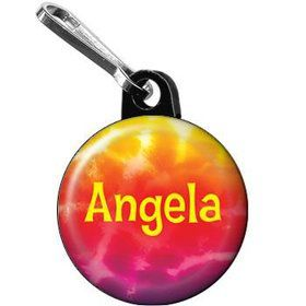 Tie Dye Fun Personalized Mini Zipper Pull (each)