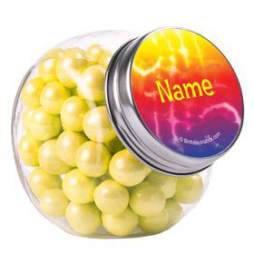 Tie Dye Fun Personalized Plain Glass Jars (10 Count)